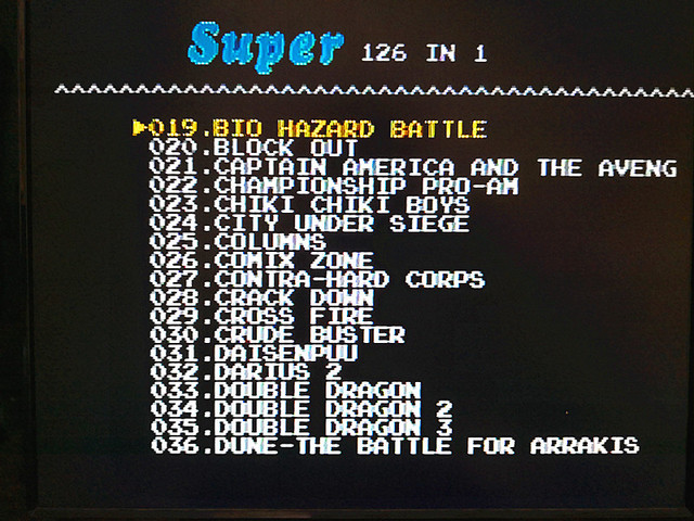 126 in 1 for Sega Megadrive Genesis 2