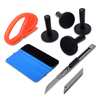 EHDIS 3M Felt Squeegee Vinyl Car Wrap Tool Set Cutter Knife Magnet Holders Multi Hand Tools