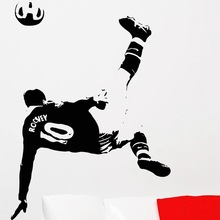 New arrival Football Player Sticker Sports Soccer Decal Rooney Posters Vinyl Wall Decals home Decor Mural