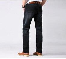 Herbst und winter männliche gerade jeans ultra elastische vintage schwarz herrenbekleidung casual verlängern