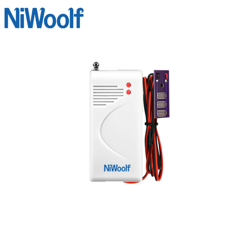 Wireless water leak detector 433MHz for home alarm system , water sensor alarm water leak alarm