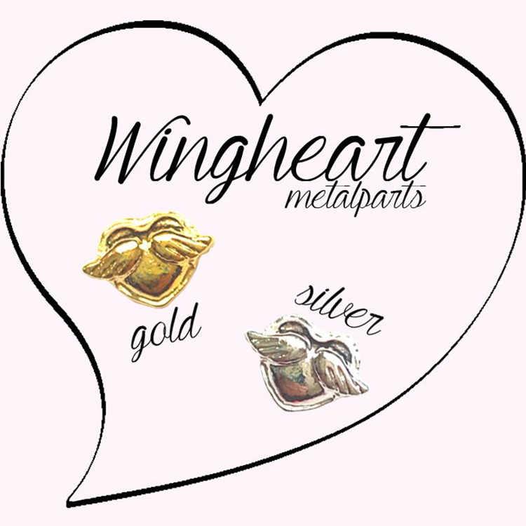 5 шт./упак. Япония Корея сплав для дизайна ногтей Сердце Крыло ангела золотистый, серебристый, металлический ювелирные украшения коллекция для Для женщин ногтей DIY