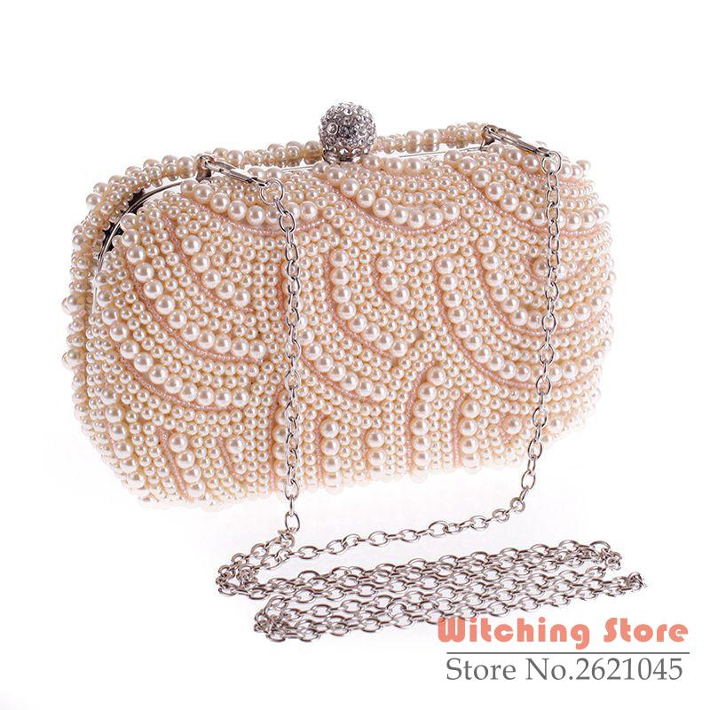 ФОТО Perfect# Cool exquisite Dinner pearl hand all-match 6958-01 fashion bag FREE SHIPPING