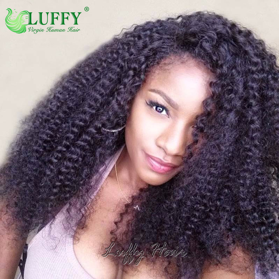 Afro Kinky Curly Wig Virgin Brazilian Hair Afro Kinky