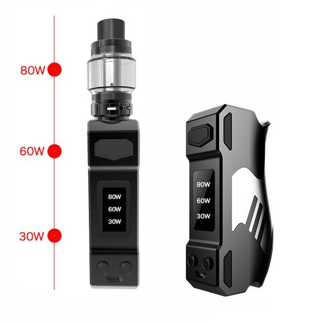 , 80W Adjustable wattage vape mod box  Electronic Cigarette kit 2000mah battery 0.5ohm 4.0ml tank e-cigarette Big smoke vaper Lx28