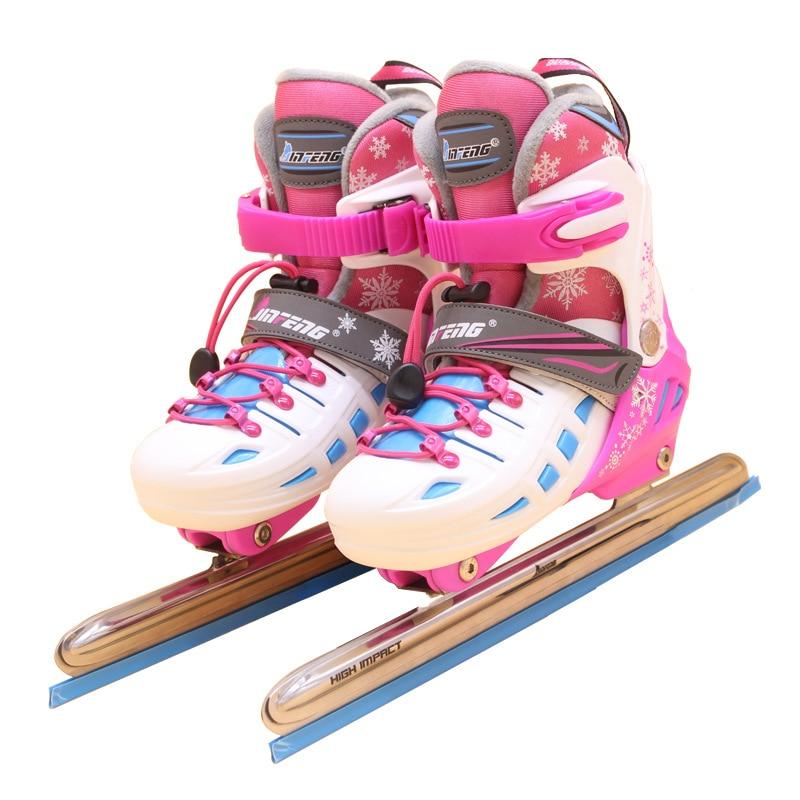 2018 NEW Winter 1 Pair Adult Children Racing Speed Ice Blade Skates Shoes Adjustable Thermal Adjustable Figure Skating Patines hot sales ice figure skating dresses beautiful new brand vogue figure skating suit su2025