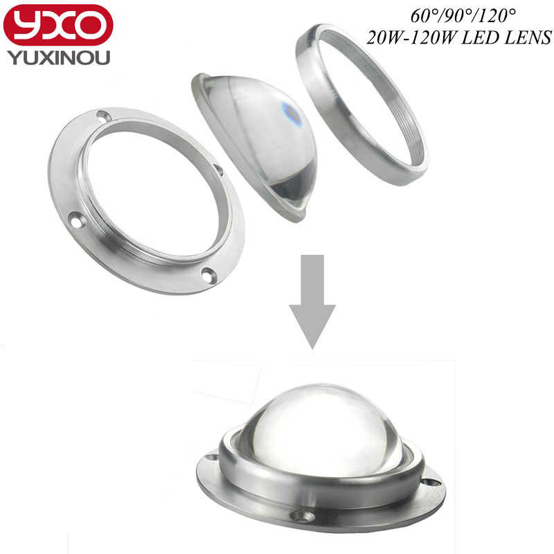 1pcs/lot 67mm Led Lens +aluminum Ring+ 3set Series for 20w 30w 50w 60w 90w 100w 120w lens Collimator