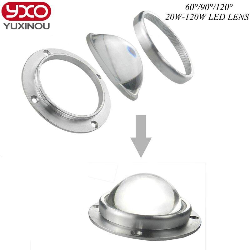 1pcs/lot 67mm Led Lens +aluminum Ring+ 3set Series for 20w 30w 50w 60w 90w 100w 120w lens Collimator