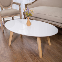 Столы для кафе мебель из массива дерева овальный журнальный столик боковой Диванный сборка панели стол минималистичный современный Горячий 100*50*43 см