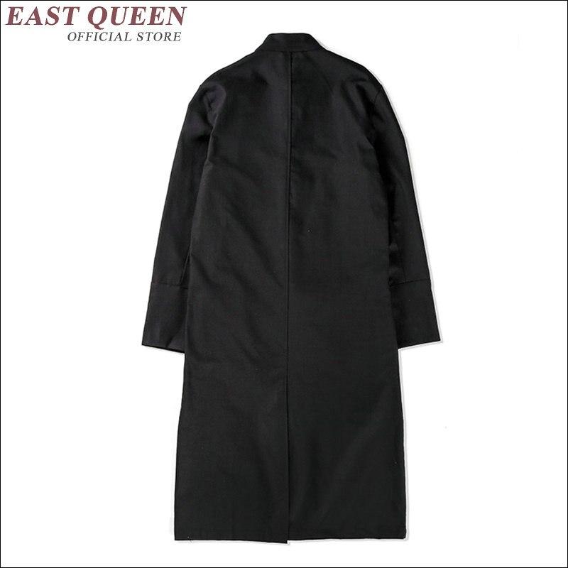 Vestuário masculino 2018 ternos de linho masculino gola mandarim terno wing chun vestuário tradicional chinês para homem aa1636z - 6
