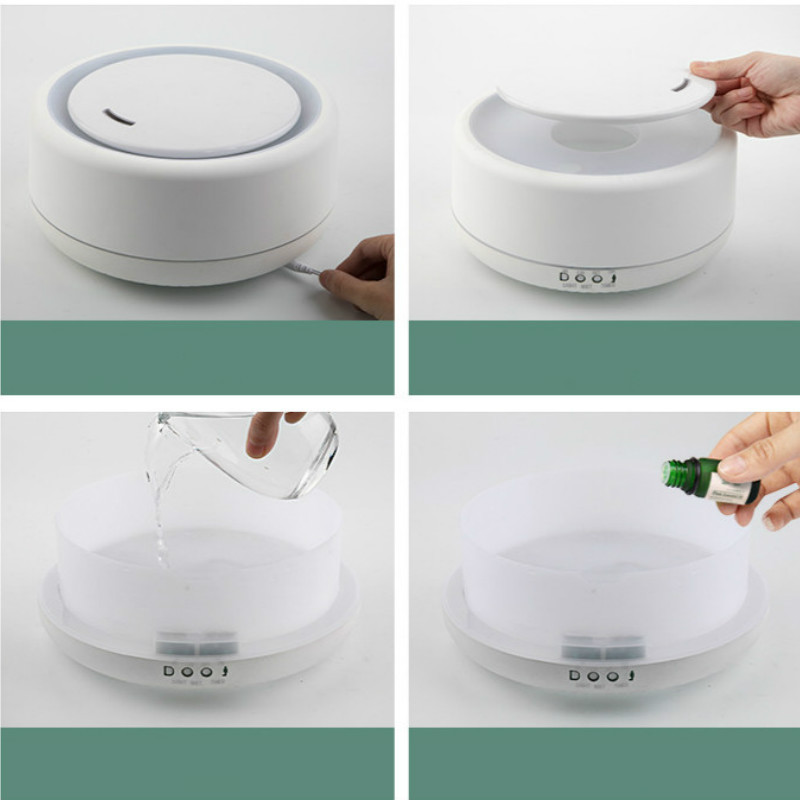 700ml 1200ml Ultrasonic Air Aroma Humidifier Grain 7Colors LED Lights Electric Aromatherapy Essential Oil Aroma Diffuser in Humidifiers from Home Appliances