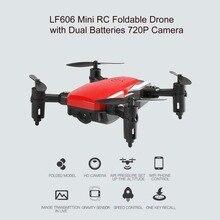 HOT LF606 Mini Drone With 2 Battery 720P HD Camera FPV RC Quadcopter Foldable Al