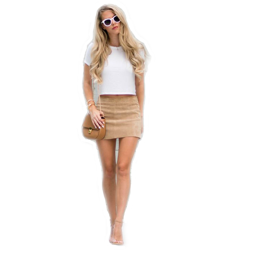 HTB1YlrJQXXXXXXyXVXXq6xXFXXXb - FREE SHIPPING Women Suede Mini Skirt JKP198