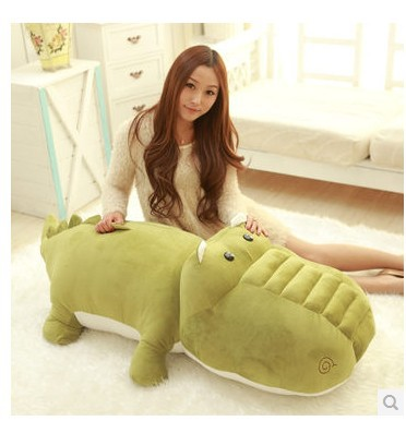 Stuffed animal crocodile army green crocodile plush toy about 120cm doll huge 47 inch  toy throw pillow cushion toy t723 children s toy crossbow with infrared white army green