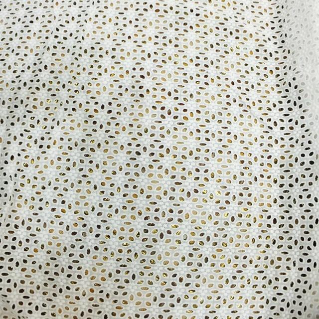 Tissu brodé en dentelle blanche et fleurs de coton   100% de cour, dentelle pour la cérémonie de mariage
