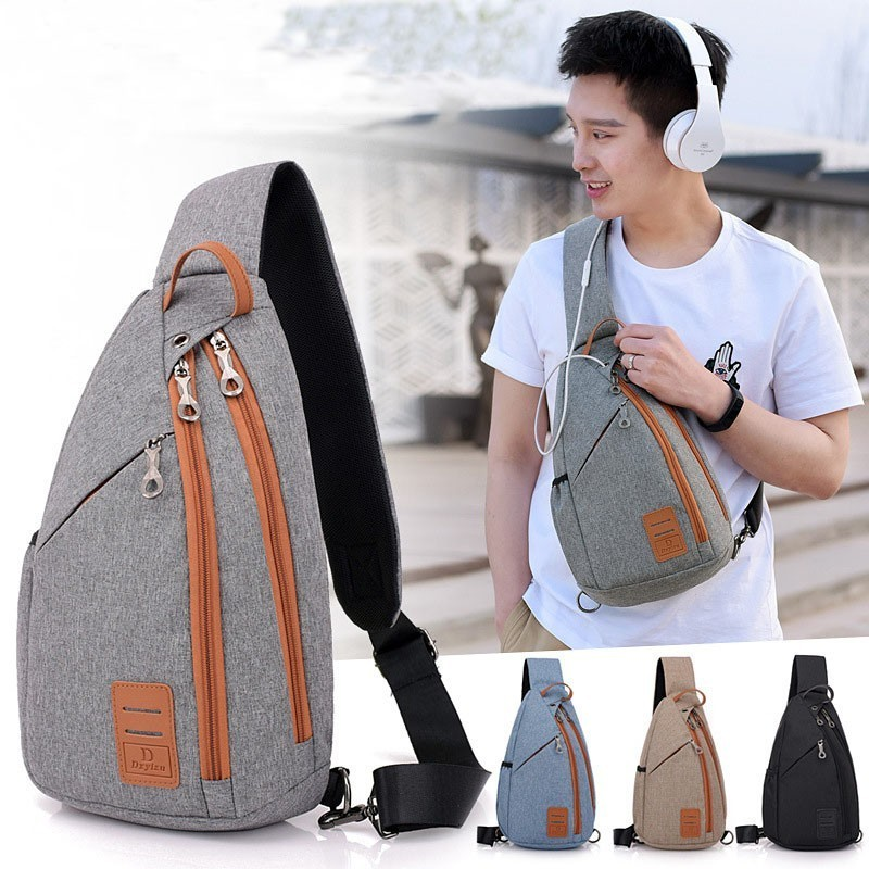 Men Backpack Chest Pack Casual Sling One Shoulder Bagpack Multifunction Crossbody Bag Travel Back Pack Mochila Masculina Bolsas