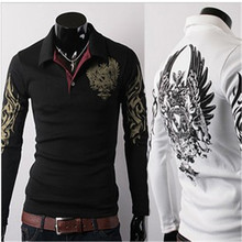 Man's T-shirt Brand Clothing 2017 New Men's T Shirts Fashion Eagle Tattoo Fashion Long-sleeve T-shirts Men camisa masculina