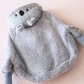 2016 new winter children clothing Korean plush lamb fleece sweatshirt baby girls tops cartoon thick