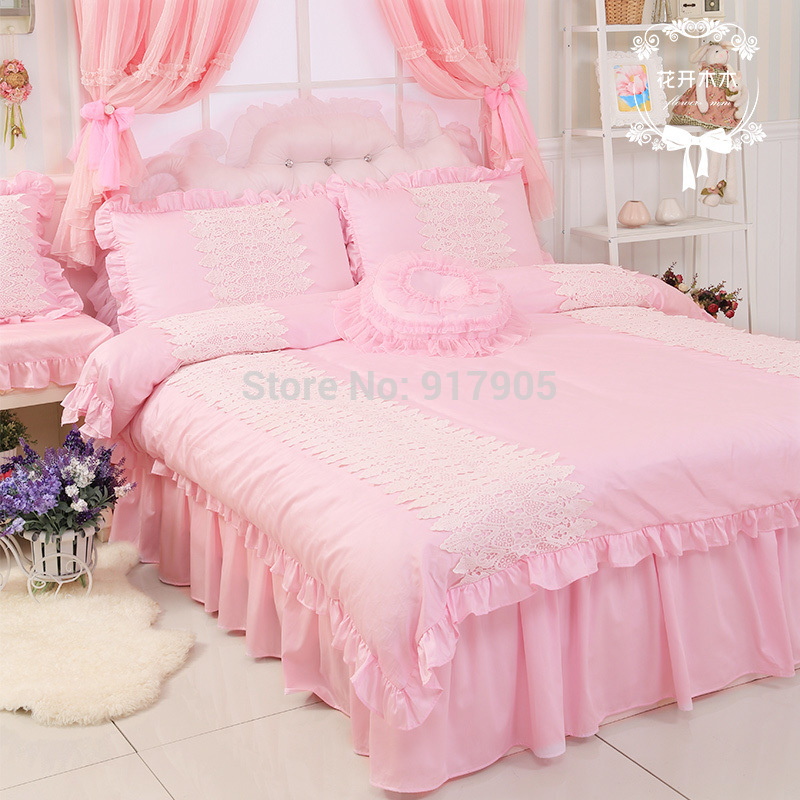 elegant pink queen comforter set designer brand egyptian cotton girls princess bedding set full. Black Bedroom Furniture Sets. Home Design Ideas