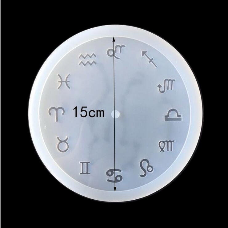 constellation shape clock Fashion Scrapbooking Silicone Mould DIY Resin Decorative Craft Jewelry Making Mold epoxy resin molds