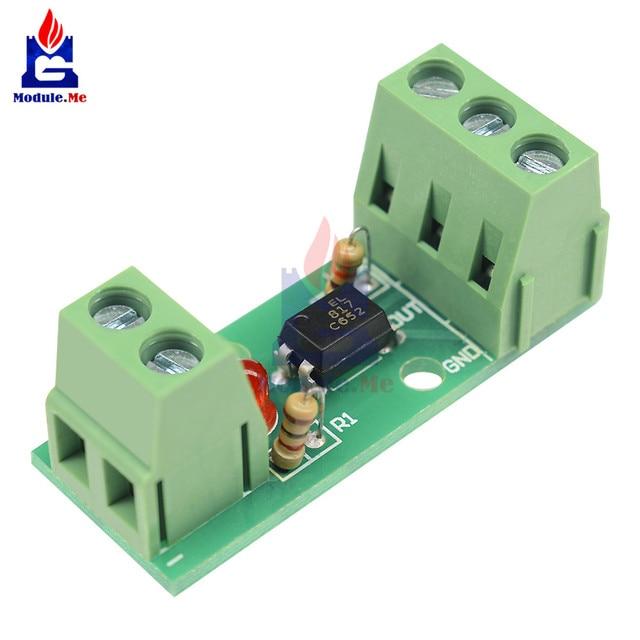 PC817 EL817 12 V 1CH 1 kanałowy moduł izolacji transoptor pokładzie uchwyt na szynę procesory PLC na białym tle jazdy falownik silnika