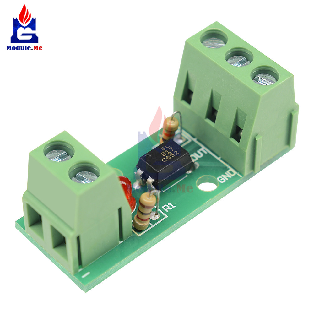 PC817 EL817 12V 1CH 1 Channel Way Optocoupler Isolation Module Board Rail Holder PLC Processors Isolated Drive Motor Inverter image