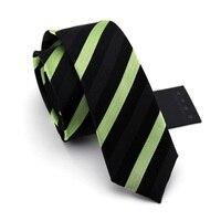 Silk Ties Striped Black Green 2015 5 5cm Corbata De Seda Slim Skinny Narrow Men Necktie