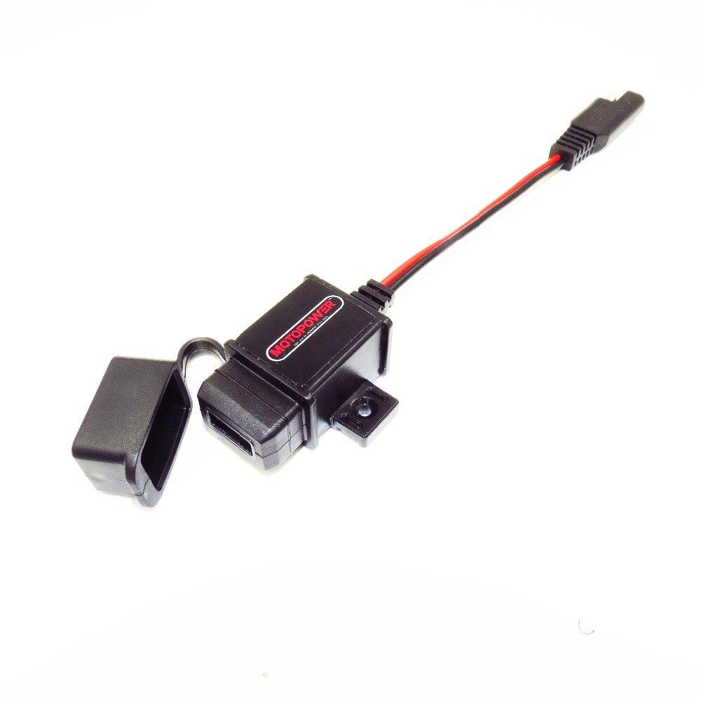 MOTOPOWER MP0609 3.1amp Wasserdichte Motorrad USB Handy-ladegerät GPS Ladegerät SAE zu USB Adapter