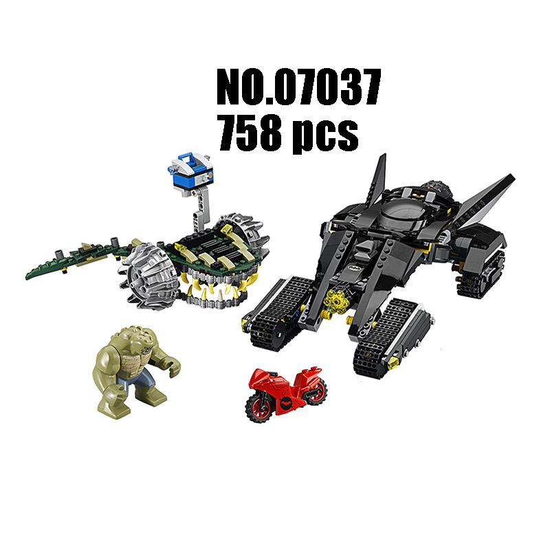 Models Building Toy super heroes Killer Croc Sewer Smash 07037 Building Blocks Compatible Lego batman 76055 Toys & Hobbies