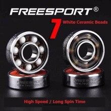 8 Piece FreeSport 608 Hybrid Ceramic Bearing High Speed  ABEC 9 Inline Skate Bearings Skateboard LongBoard Fidget HandSpinner