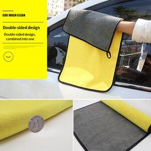 Image 4 - Ręcznik z mikrofibry pielęgnacja samochodu polerowanie ręczniki do prania Auto mycie suszenie tkaniny mikrofibra gruby pluszowy ręcznik akcesoria do myjni samochodowych