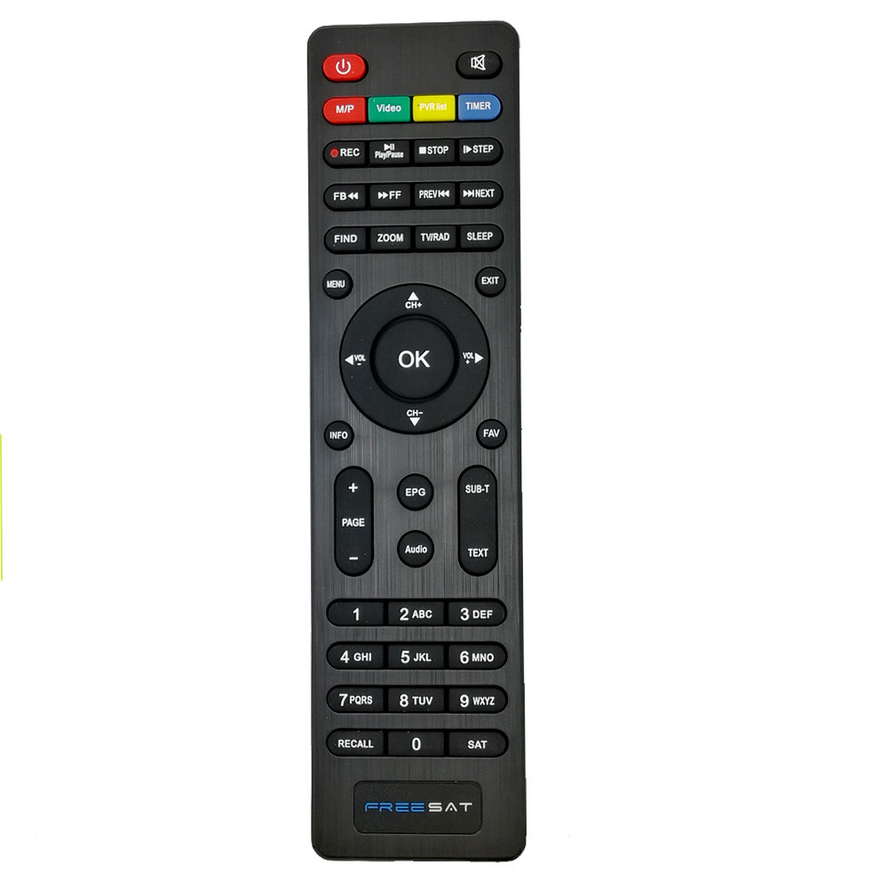 Free Sat Digital Satellite Receiver Remote Control For DVB-S2 Freesat V7 HD Freesat V7 MAX Freesat V7 COMBO Terrestrial ASTC freesat v7 hd powervu satellite tv receiver dvb s2 with 3months free africa cccam account stable on starsat 5e