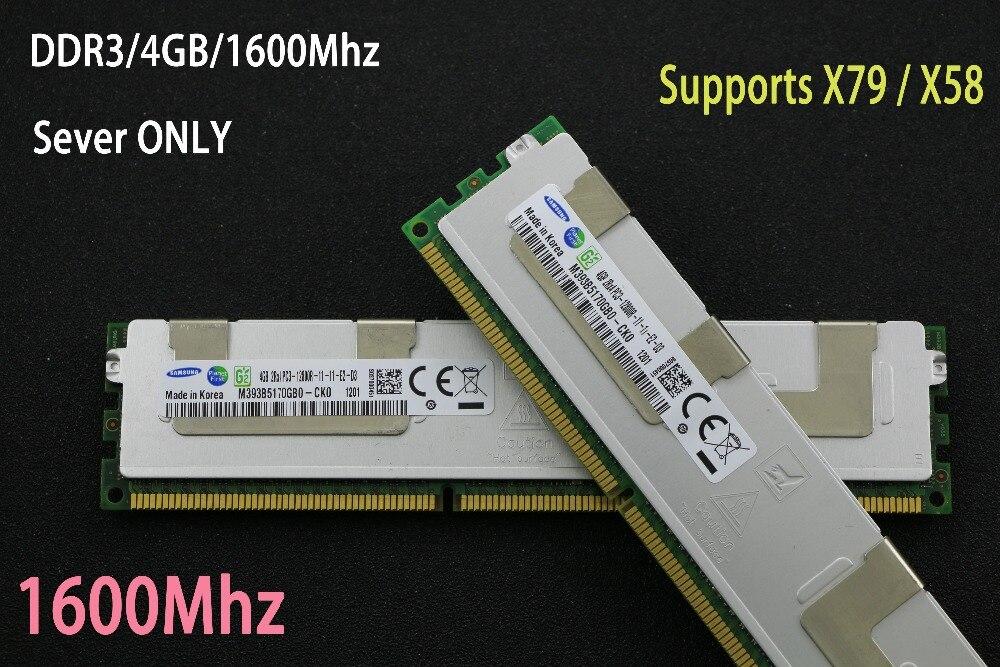 Original Samsung 4 GB DDR3 1333 MHz 1600 MHz 1866 MHz 4G 1333 de 1600, 1866 radiador REG ECC memoria de servidor 8g 16G 8 GB 16 Gb RAM x79 x58