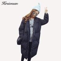 Koreański Ponadgabarytowych Płaszcz Kobiety Kurtka Zimowa Długa Bluza Ciepłe Bawełny Wyściełane Zima Parki Czarny Wojskowe Parka Plus Rozmiar 2XL 3XL