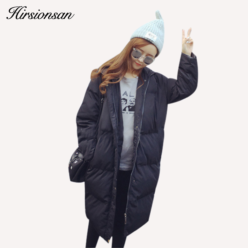 3750e783c Korean Oversized Coat Women Winter Jacket Long Hooded Warm Cotton ...