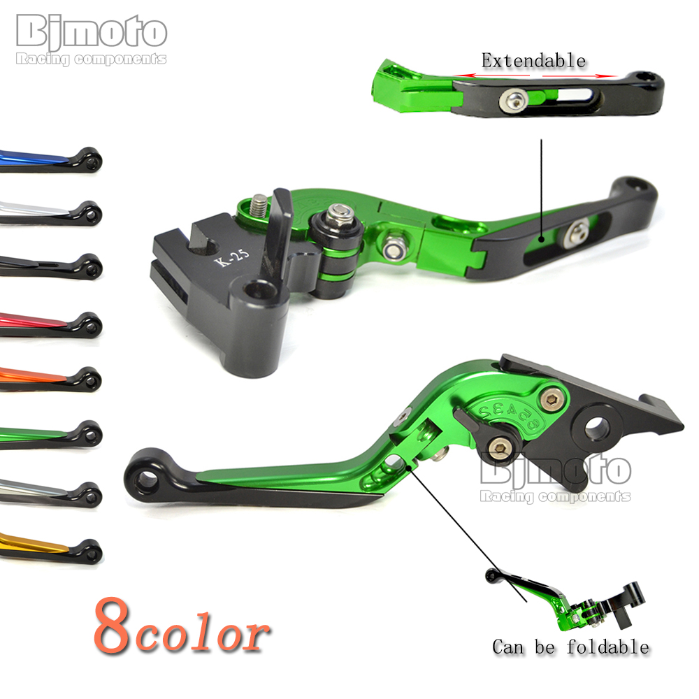Adjustable Foldable Extendable Motorbike Brakes Clutch CNC Levers For Kawasaki ZX6R/ZX636R /ZX9R/ZX10R/ZX12R Z1000 VERSYS 1000 cnc adjustable motorcycle billet foldable pivot extendable clutch