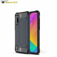 HATOLY For Coque Xiaomi Mi CC9 Case 9 Lite Heavy Armor Slim Hard Rubber Tough Cover Silicone Phone Cases for