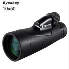 Μαγνητικό Τηλεσκόπιο Eyeskey 10x50 Bak4 Οπτικό πρίσμα Εξωτερική Κάμπινγκ Κυνήγι Περιοχή Spotting Μονοκλέβιο Αδιάβροχο Κιάλια
