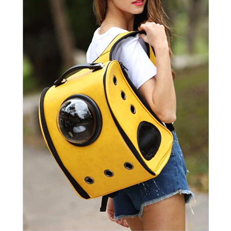 Space Capsule Shaped Pet Carrier Breathable Pet Backpack Pc Pet Dog Outside Travel Bag Portable Bag Cat Bags #5