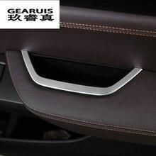 Автомобиль-Стайлинг ABS внутренняя двери водителя подлокотник коробка для хранения Рамки крышки наклейки для BMW X3 F25 x4 2011 -2016 Авто Интимные аксессуары