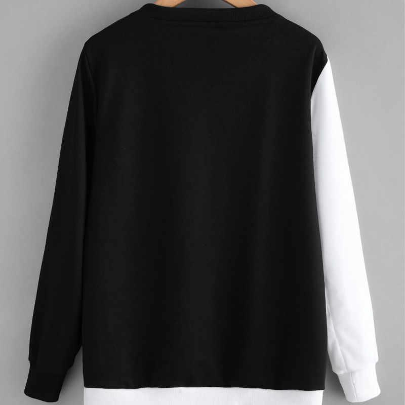 96647cd3280 ... Las parejas blanco y negro Yin Yang gatos sudaderas con capucha de las  mujeres manga larga ...