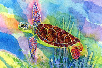 Cartoon Full Diamond Embroidery Sea Turtle 5D Diy Diamond Painting Resin Pasted Picture Children Room Decorative