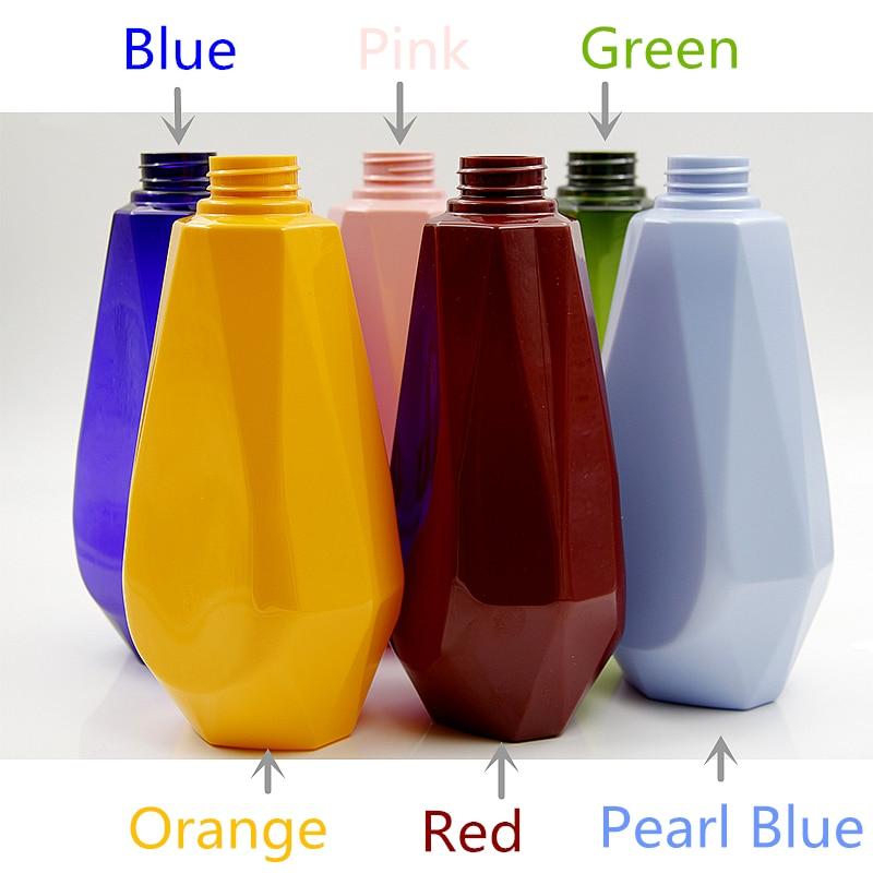 HOT 10pcs 750ml lotion refillable plastic bottles for shampoo shower gel empty personal care PET pump