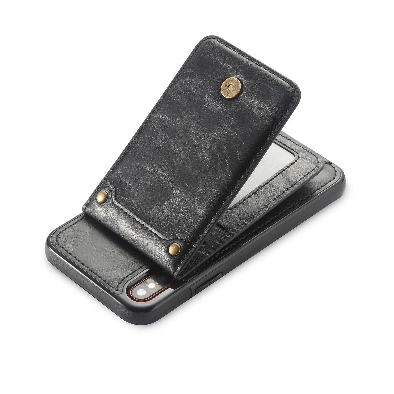 25f611f3f62 2 in1 ranuras para tarjetas cartera Funda de cuero para hombre de negocios  carcasa trasera para iPhone X 6 7 8 Plus cumpleaños elección de regalo del  día de ...