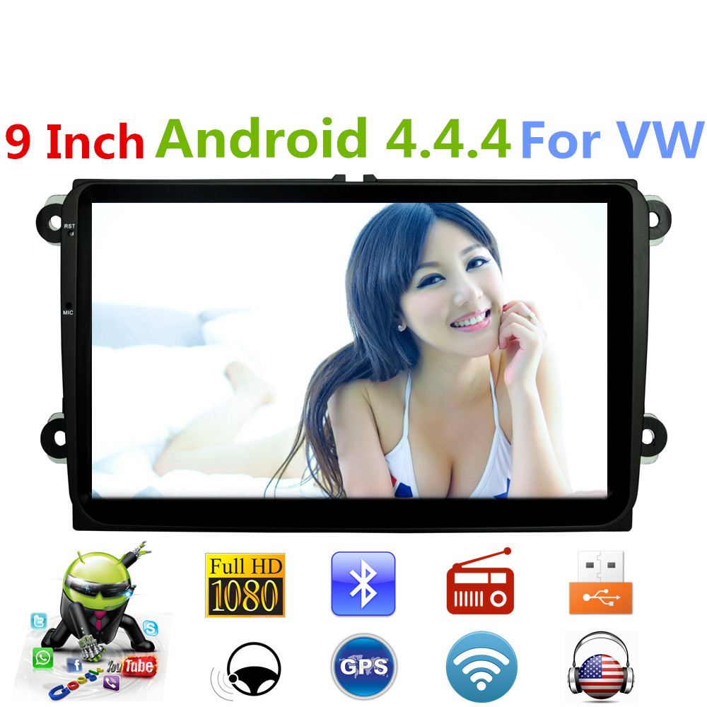 For VW 9Inch font b Android b font 4 4 Car Stereo Radio Multimedia player GPS