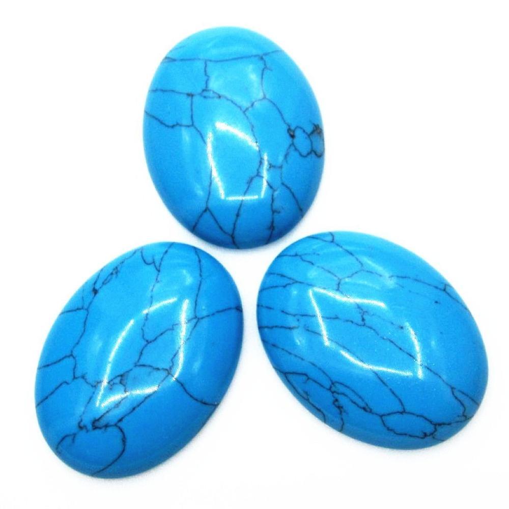 Натуральный камень каменный Агат e Кабошон бусины 22*30 мм плоское дно драгоценный камень каменный Кабошон для изготовления ювелирных изделий 10 шт./партия - Цвет: Man made turquois 10