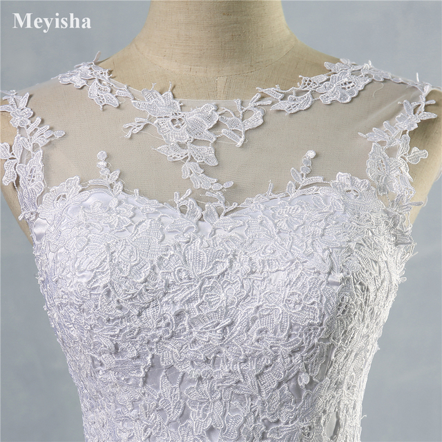 ZJ9036 2019 2020 lace White Ivory A-Line Wedding Dresses for bride Dress gown Vintage plus size Customer made size 2-28W 6