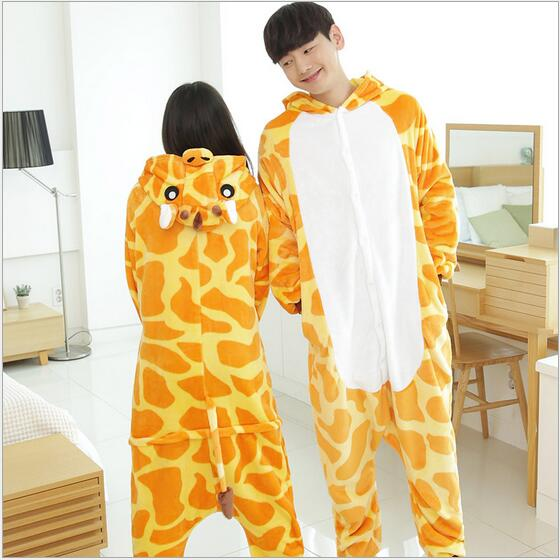 Brand New Giraffe Costumes Adult Giraffe Pajamas Onesie Cosplay Costume Women Men Couple Giraffe Hoddie Pajamas Pyjamas