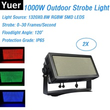 hot deal buy 2xlot professional stage strobe lights outdoor rgbw 4in1 led strobe lights dmx floodlights 110-240v perfect for holiday xmas dj