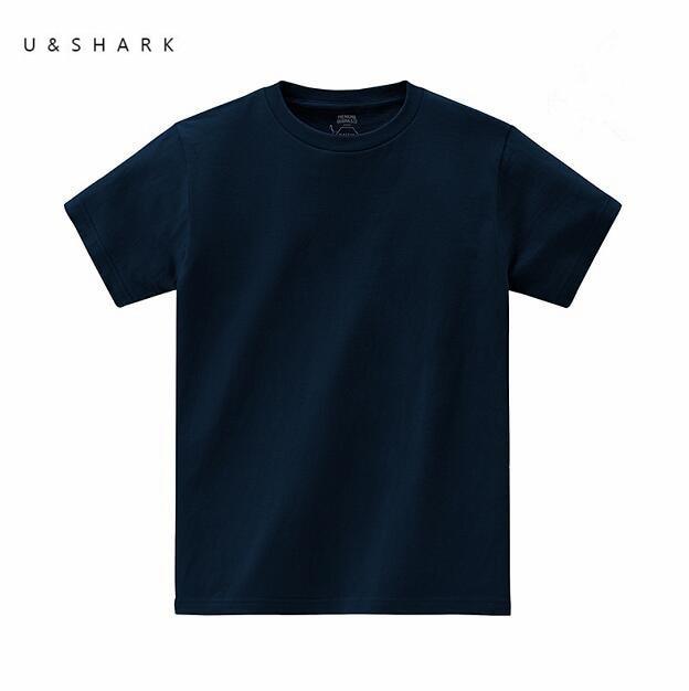 2016 u shark luxury cotton short sleeve solid basic t shirt homme slim fit men clothing summer. Black Bedroom Furniture Sets. Home Design Ideas